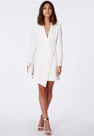 asymmetric blazer dress