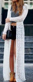 maxi lace kimono