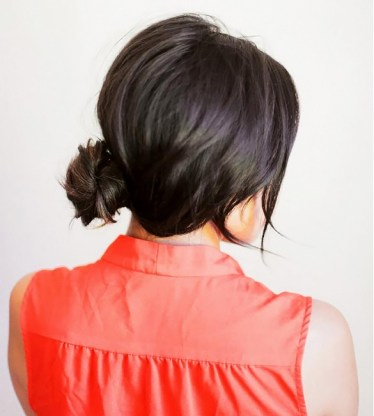 loose low bun