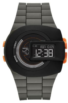 diesel deep green and orange watch with view finder 84$
