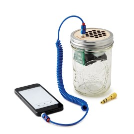 mason jar speaker and amplifier 65$