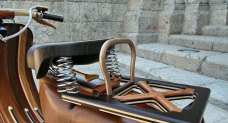 carlos alberto created wood vespa