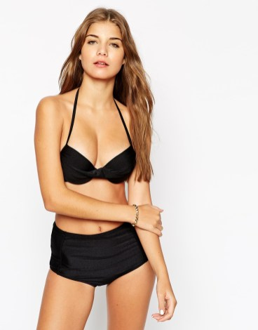 south beach mix and match twist front push up bikini top at asos
