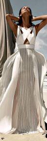 stunning shite summer dress BCBG max azria resort 2015