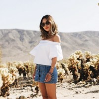 off the shoulder white piece