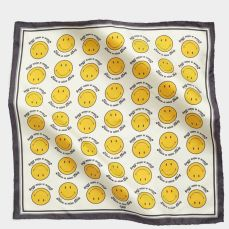 anya hindmarch smiley silk scarf