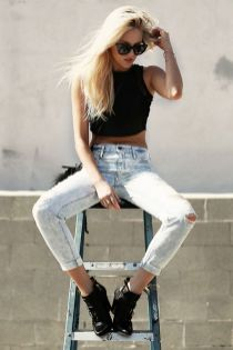 crop top skinny jeans