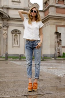 cuffed jeans 70s