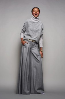 J Crew maxi grey colored wide trousers