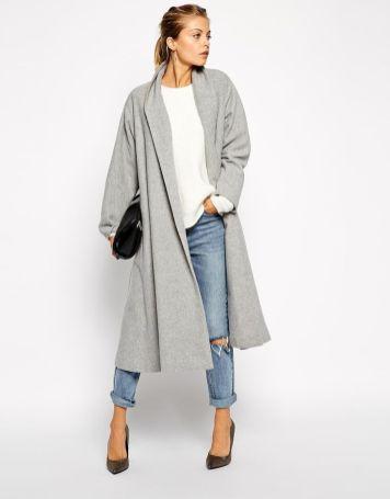 coat in midi swing trapeze. find it on asos