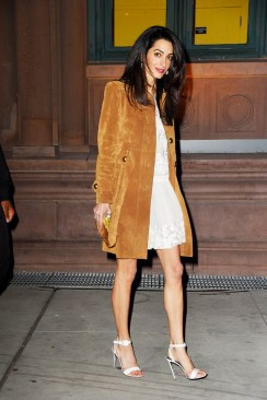 amal clooney the suede jacket