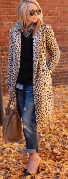 how to style the leopard coat