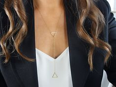 layered y necklace