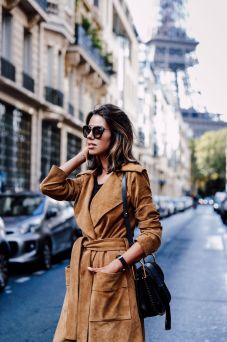 suede robe-jacket