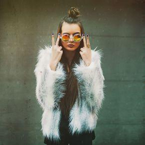 fluffy coat style