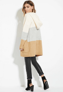 hooded longline cardigan forever 21 39.40