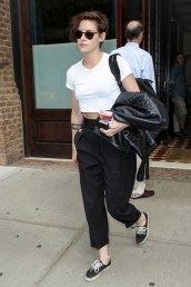 kristen stewart in vans authentic canva sneaker