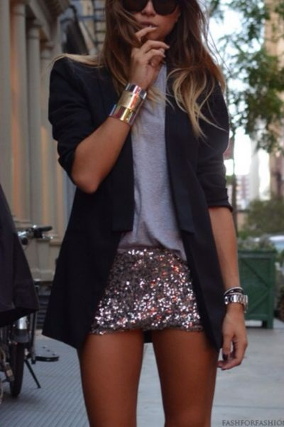 sequin mini and blazer