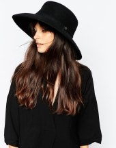 whistles flat top wide brim hat at asos