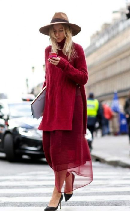 layering in red