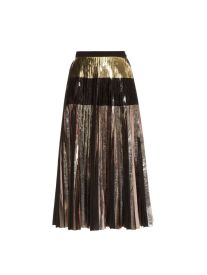 metallic pleated skirt proenza schouler