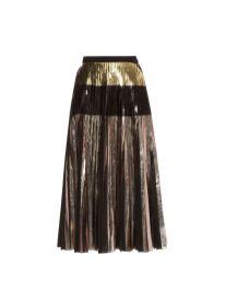 metallic pleated skirt proenza schouler