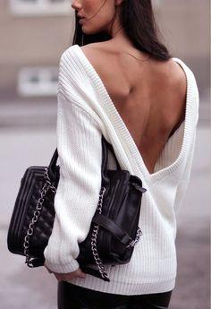 sweater backwards