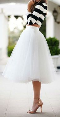 tulle skirt with stripes