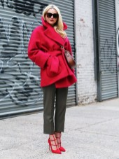 combine khaki with red