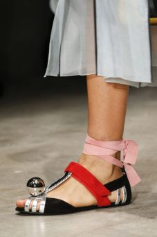 ankle ribbons prada