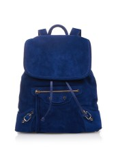 classic traveller backpack suede balenciaga