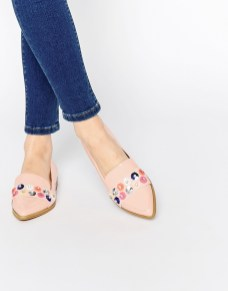 embellished flat shoes mermaid