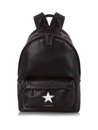 givenvhy star embossed leather backpack