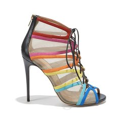 salvatore ferragamo rainbow lace up sandals