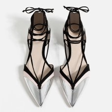 zara ballerina flats with strapes