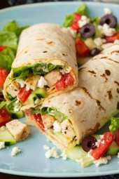 greek grilled chicken hummus wrap