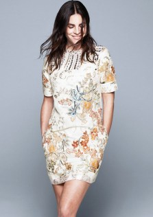 hm conscious collection embroidered geisha dress