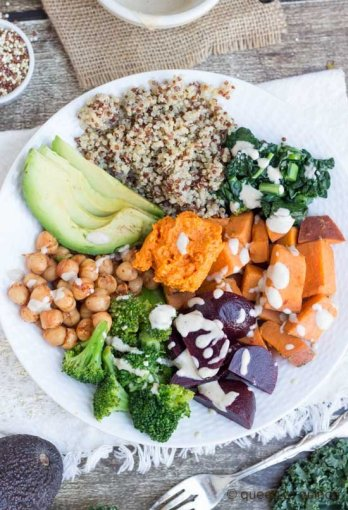nourishing quinoa bowl