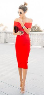 red passion dress