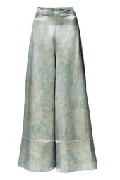 wide cut silk blent pants
