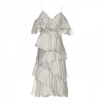 anna october stealing beauty ruffled creme dress