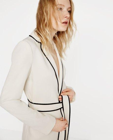 belted blazer zara