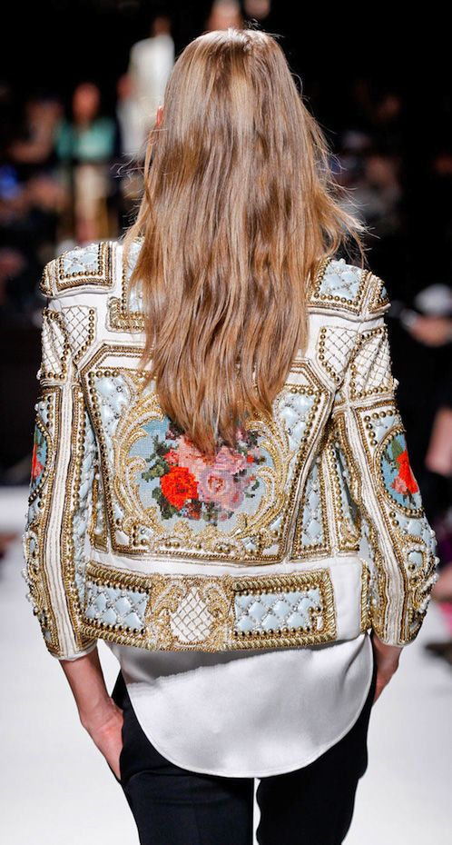 balmain embroidered jacket