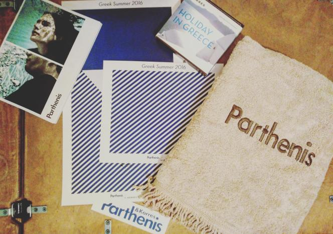 parthenis and korres beach towel