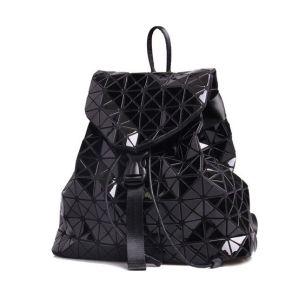 geometic patchwork daypack foldable rhombic plaid waterproof backpack