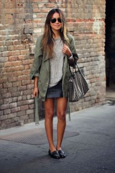 loafer with skirt