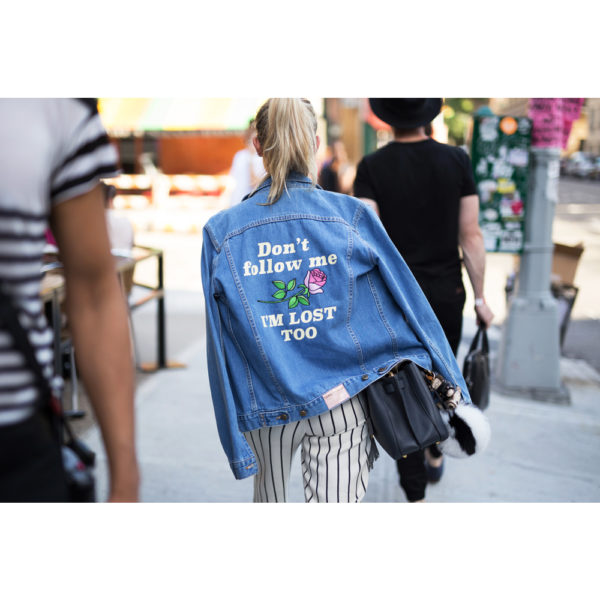 patched embroiders denim jacket