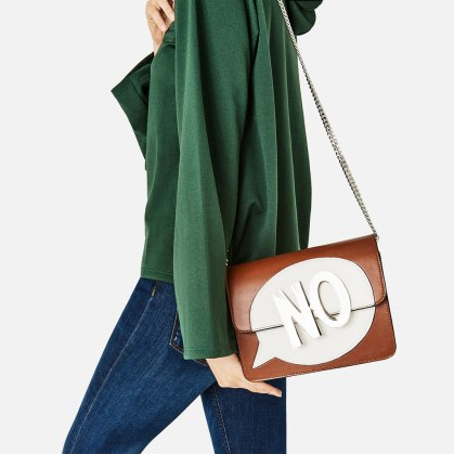 text crossbody bag