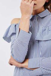 poplin-ruffle-shirtdress