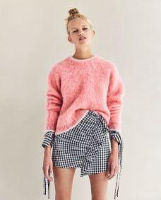 mini skirt gingham zara